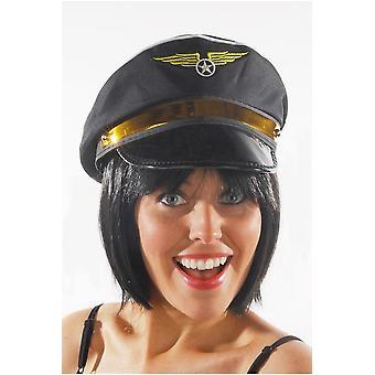 Noir de chapeau chapeaux pilote