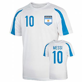 Argentina Sports Training Jersey (messi 10) - Kids