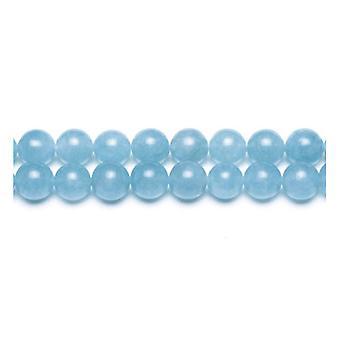 Strand 38+ Cyan Malaysian Jade 10mm Plain Round Beads GS9951-4