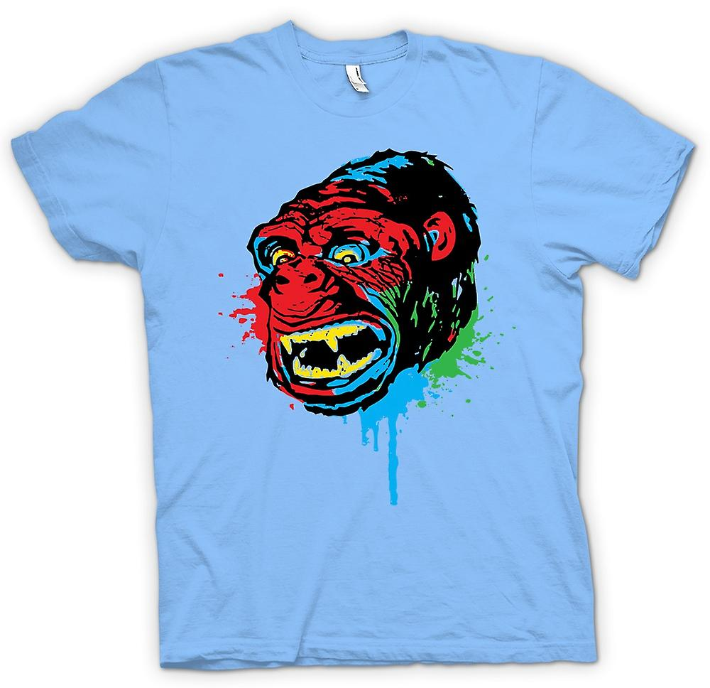 Heren T-shirt-popart - Ape Gorilla - Cool Design