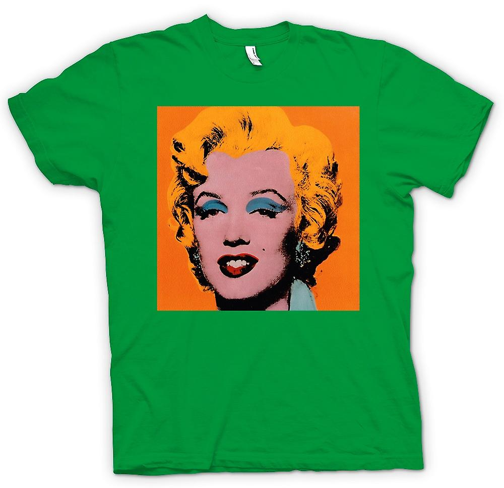 Mens t-skjorte - Marilyn Monroe - Warhol - opn - Pop Art