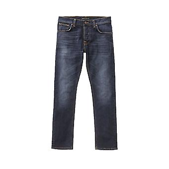Nudie Jeans Co Grim Tim Slim Fit Jeans (Ink Navy)
