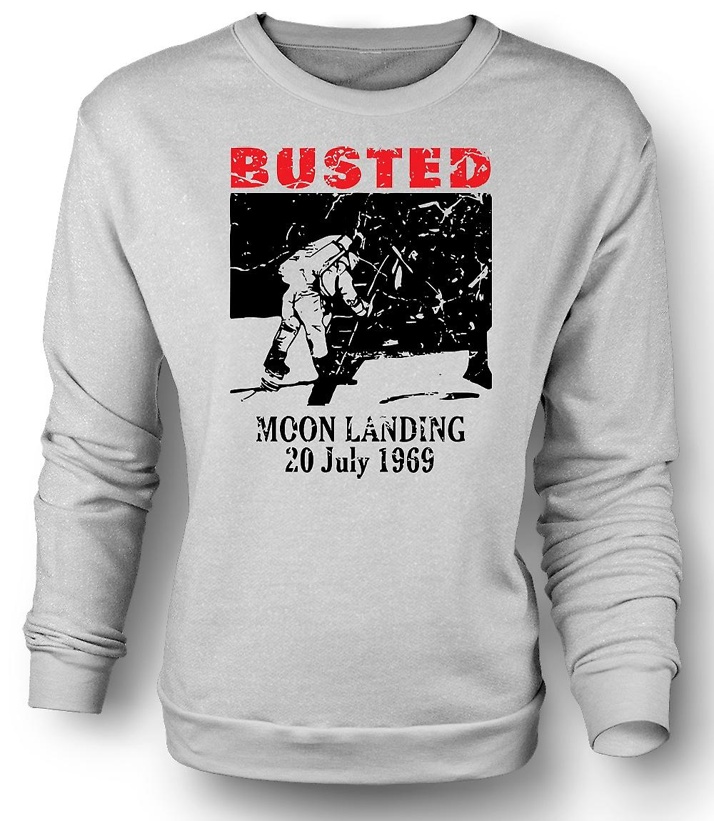 Mens Sweatshirt alunissage canular 1969 - conspiration