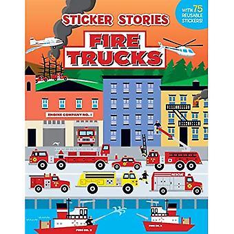 Fire Trucks (Sticker Stories Book)