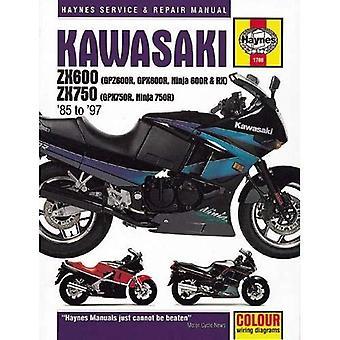 Kawasaki ZX600 (GPZ600R, GPX600R, Ninja 600R & RX) & ZX750 (GPX750R, Ninja 750R) Fours 1985-1997