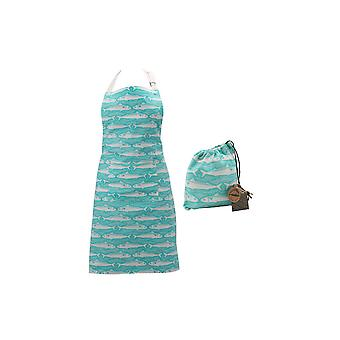 CGB Giftware Harbour Teal Fish Apron and Bag