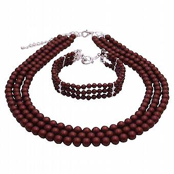 Jewelry Gift Mother of Bride Or Groom In Wine Color Jewelry