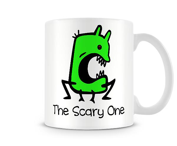 Decorative Writing The Scary One Printed Text Mug