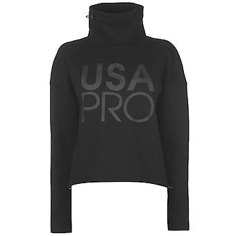 USA Pro Womens Funnel Neck Sweatshirt Ladies