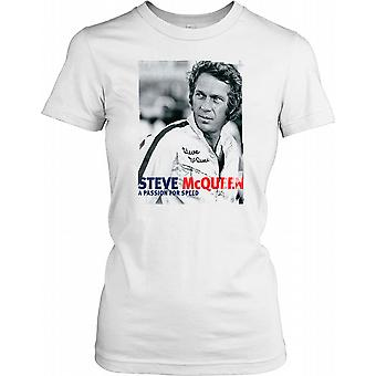 Steve Mcqueen - A Passion For Speed Ladies T Shirt