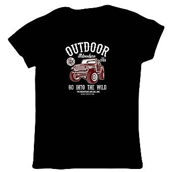 Outdoor Adventure Jeep Womens T-Shirt | 4x4 Jeep Dirty Scramble Muddy Wet Go Anywhere  | Car Pickup Bike Truck Rally Sports SUV Off-road  | Pop Culture Gift Her