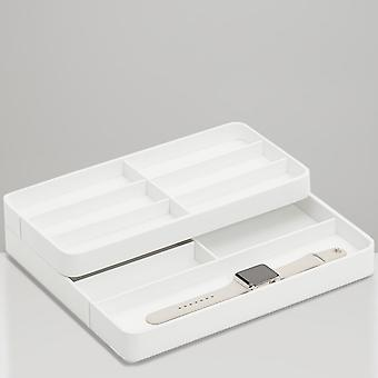 Wolf Designs 463001 White Watch Valet Tray For Apple Watch