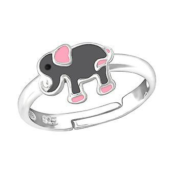 Kinderen Sterling zilveren olifant ring