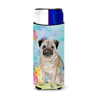 Fawn Pug Easter Michelob Ultra Hugger for slim cans