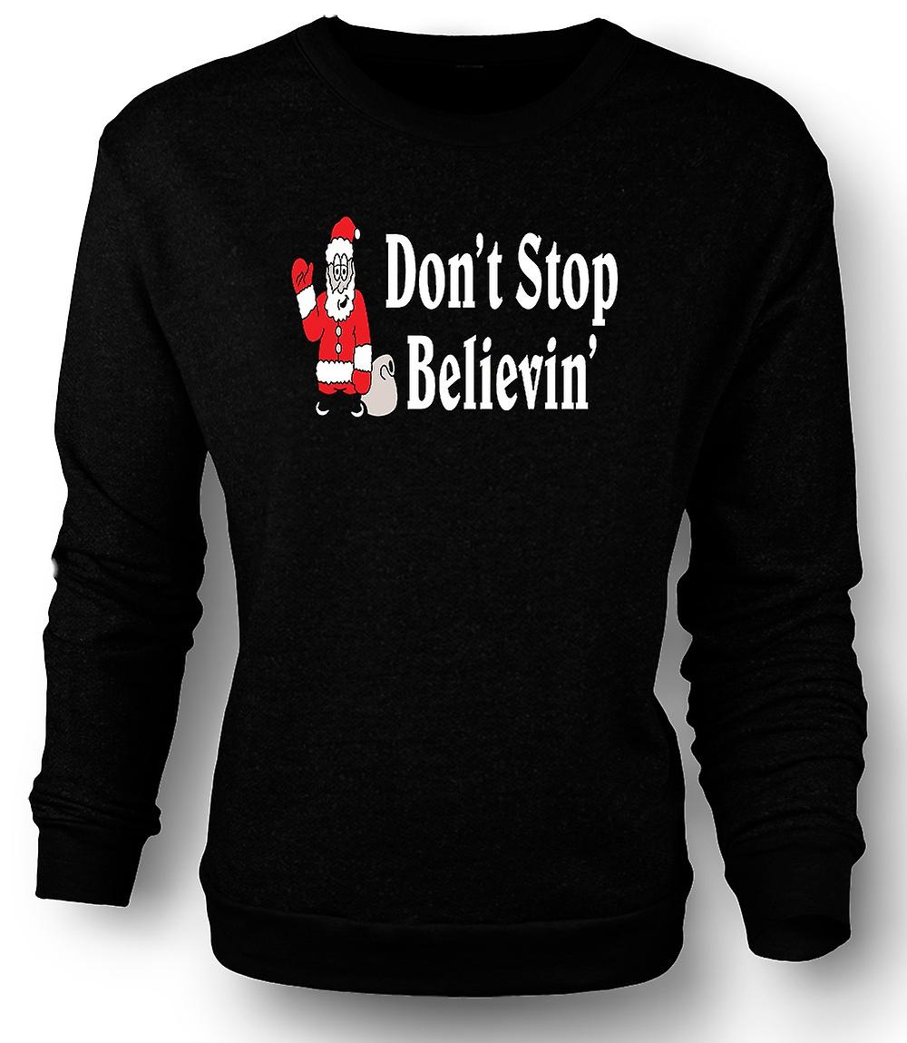 Mens Sweatshirt Santa Believe - Funny Christmas