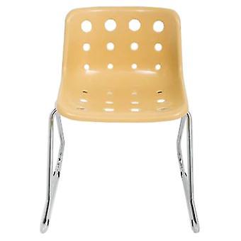 Loft Robin Day Sled Cappuccino Plastic Polo Chair