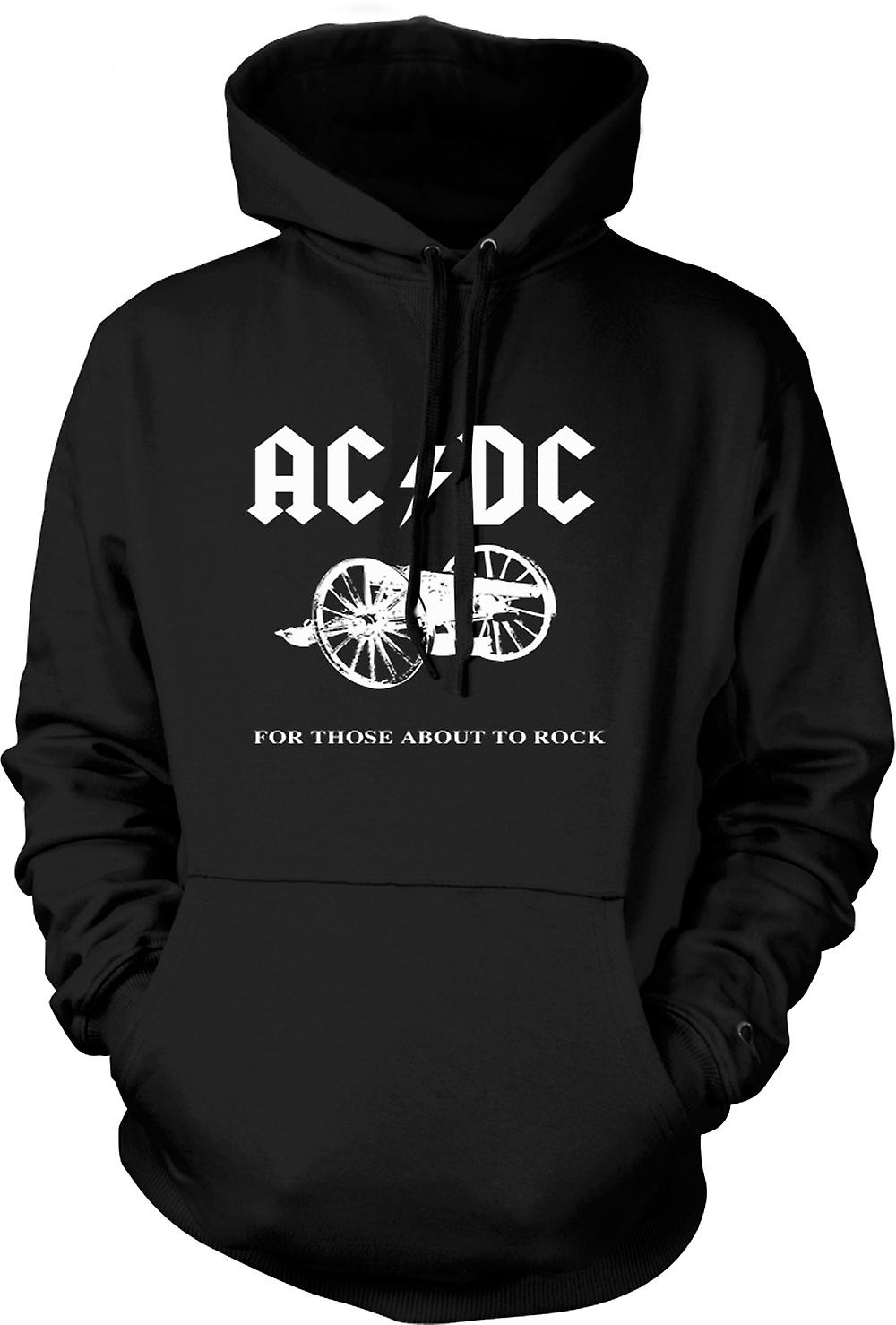 Mens Hoodie - AC/DC For Those About To Rock
