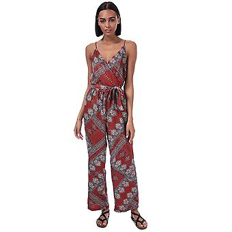 Womens Only Diana Scarf Print Jumpsuit In Arabian Spice