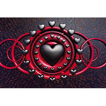Poster - Studio B - 36x24 Heart of Gothic Wall Art CJ1550B