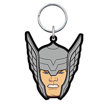 PVC sleutelhanger-Marvel-Thor hoofd nieuwe geschenken speelgoed rubber gelicentieerd 68126