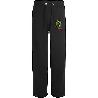 Royal Regiment Of Fusiliers Crest Veteran - Licensed British Army Embroidered Open Hem Sweatpants / Jogging Bottoms