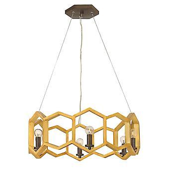Elstead - 6 Light Pendant - Gold Finish - HK/MOXIE6/P SSG