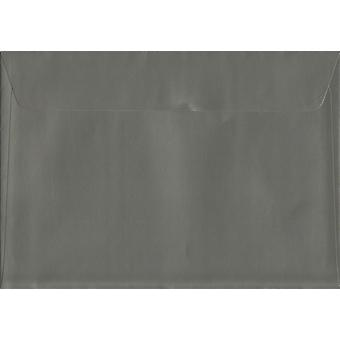 Gunmetal Grey Peel/Seal C5/A5 Coloured Grey Envelopes. 130gsm Luxury FSC Certified Paper. 162mm x 229mm. Wallet Style Envelope.