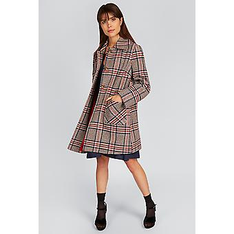 Louche Dryden Check Collared Coat