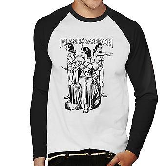 Flash Gordon Dale Trio Men's Baseball langärmelige T-Shirt