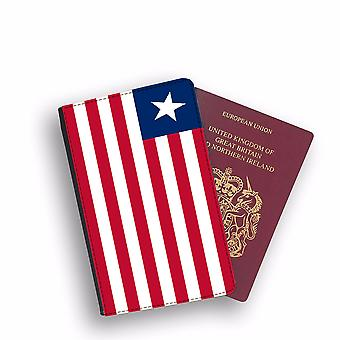 LIBERIA Flag Passport Holder Style Case Cover Protective Wallet Flags design