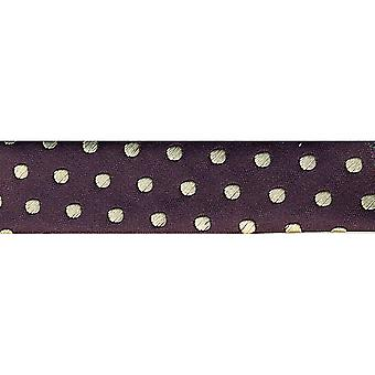 Novelty Fashion Bias 20Mm X 22 Yards Purple with Cream Dots 1782 89