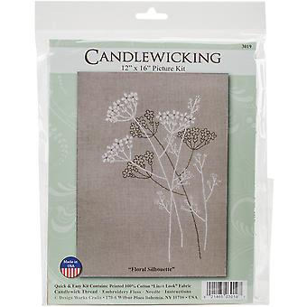 Floral Silhouette Candlewicking Kit-18
