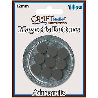 Magnetic Buttons On Mirror 12Mm 18 Pk Mcmt 042
