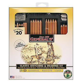 Classic Sketching & Drawing Kit 20Gp