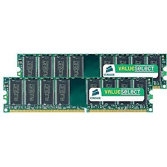 PC RAM kit Corsair ValueSelect VS4GBKIT667D2 4 GB 2 x 2 GB DDR2 RAM 667 MHz CL5 5-5-15