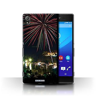 STUFF4 Case/Cover for Sony Xperia Z3+/Plus/Fireworks/Thailand Scenery