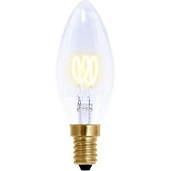 LED (monochrome) Segula 230 V E14 2.7 W = 9 W Warm white EEC: A Candle (Ø x L) 35 mm x 95 mm dimmable, Filament 1 pc(s)
