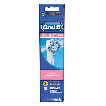 Braun Replacement Toothbrush Ebs17 - 3 Sensitive (Woman , Esthetics , Dental beauty )