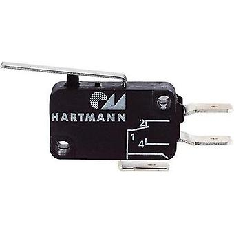 Microswitch 250 Vac 16 A 1 x Off/(On) Hartmann 04G01B04B01A momentary 1 pc(s)