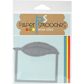 Paper Smooches Die-Feather Frame SED343