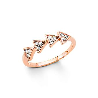 s.Oliver jewel ladies silver cubic zirconia ring Rosé gold SO1327