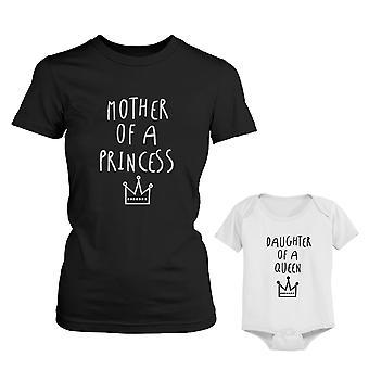 Mutter Tochter Prinzessin Mom Abschlag von Queen Baby Mädchen Body Partnerlook