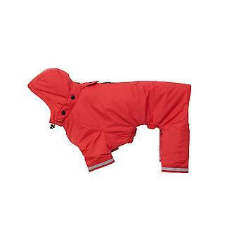 Buster Aqua Rain Coat Red Small/medium