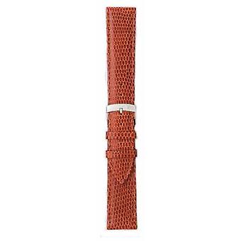 Morellato Strap Only - Ibiza Lizard Calf Brown/red 16mm A01X3266773041CR16 Watch