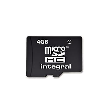 Integrierte Micro SDHC Media Speicherkarte mit SD Adapter Kapazität 4GB (MICROSD4GB)