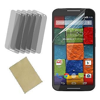 InventCase Screen Protector Guard with Cleaning Cloth (5-Pack) for Motorola Moto X (2nd Gen) 2014