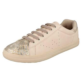 Ladies Spot On Snake Design Casual Trainers F7047