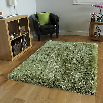 Grön tjock lurvig lugg mattan Memphis