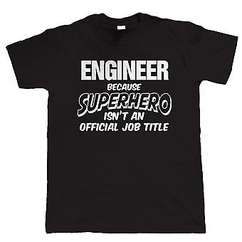 Vectorbomb, Engineer Superhero, Mens Funny T-Shirt (S to 5XL)