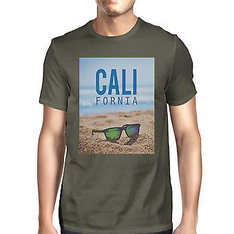 California Beach zonnebril Real Photo Mens Crewneck zomer Tee